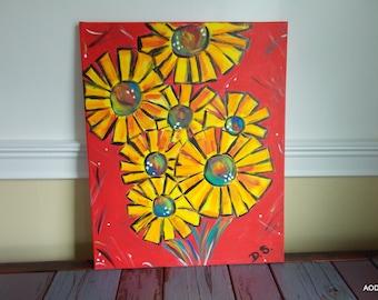 Original Artwork Flower Painting