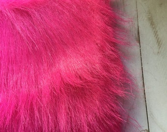 SALE! Made to order- Bright Pink front tie faux fur vest baby-toddler: Newborn- 5T