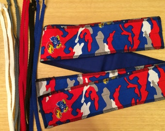 KU University of Kansas Blue and Red Jayhawk Rock Chalk cross fit Wrist Wraps