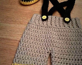 Crocheted Firefighter Infant Set