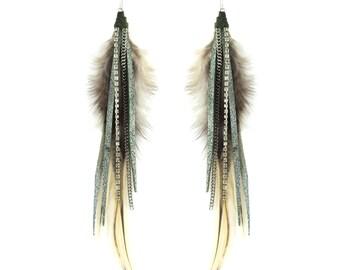 leather earrings etsy
