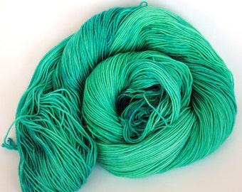 Sea Foam Speckle -Hand Dyed Sock Yarn-