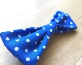 Blue and white polk-a-dot children's bow tie / hair bow