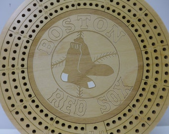 Boston Red Sox Cribbage Board
