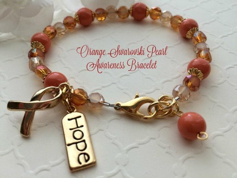 leukemia orange awareness jewelry aml ms lupus awareness
