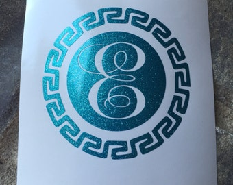 Items Similar To Circle Aztec Monogram Turquoise And Mint