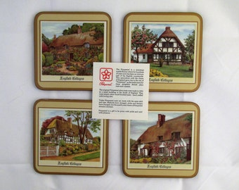 4 Pimpernel English Country Cottage Coasters