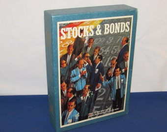 STOCKS and BONDS Bookshelf Game by 3M 1964 Exciting Stock Market Game 1964