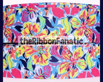 """5 yds 1.5"""" Lilly Fabric Inspired Besame Mucho Grosgrain Ribbon"""