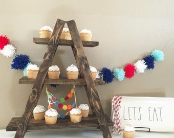 Cupcake stand, tiered tray, birthday, party, rae dunn mug holder, holiday decor stand