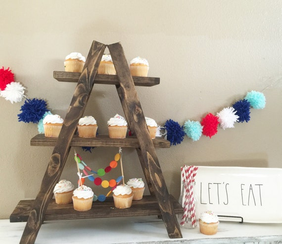 Items Similar To Cupcake Stand Tiered Tray Birthday