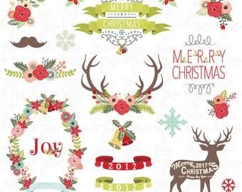Items similar to Christmas clip art