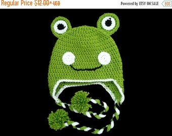 15% OFF SALE Frog Animal Baby Hat Kids Adult Winter Hat