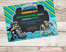 Skylanders Birthday Invite Digital Printable Spyro