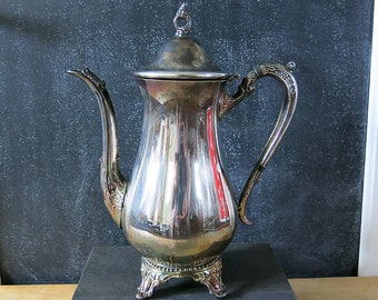 VIntage Silver Teapot, Raimond Silver Co., Tarnished, Shabby, Distressed, Open Finial