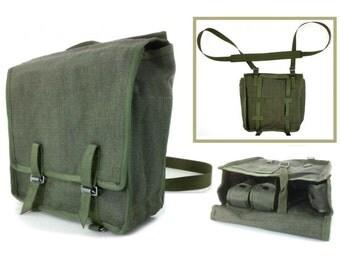Linen bag, military bag, Vintage Bag, messenger bag