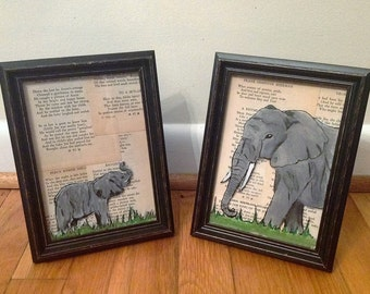 Acrylic Elephants on Glass