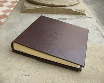 wedding leather photo album 30x30cm made in italy
