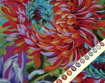 Kaffe Fassett Phillip Jacobs Fabric -  Shaggy  PWPJ 072 Purple - 100% Quality Cotton OOP and Rare Yardage