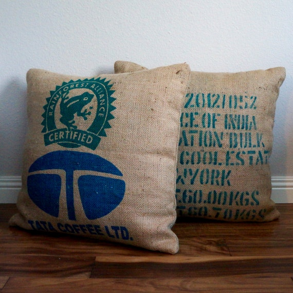 Rustic Decorative Pillow Covers : Decorative Throw Pillow Cover Rustic Home Decor Coffee