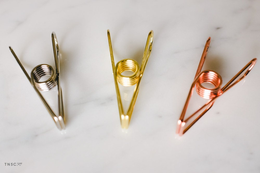 Wire Clip / Paper Clip /Binder Clip (Gold, Silver, Rose Gold ...