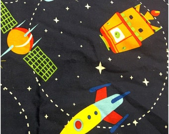 Rocket ship blanket, Outerspace Blanket, toddler blanket, baby blanket, car seat blanket, stroller blanket, toddler bedding