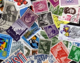 50 Worldwide Stamps, Postage Stamps, Stamps, Stamp Collection, Worldwide Postage Stamps, World stamps, Lot of stamps