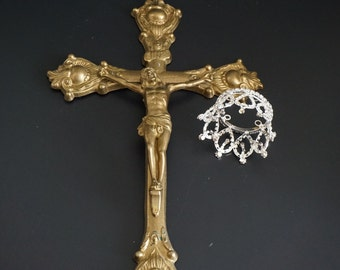 Vintage, Brass Crucifix