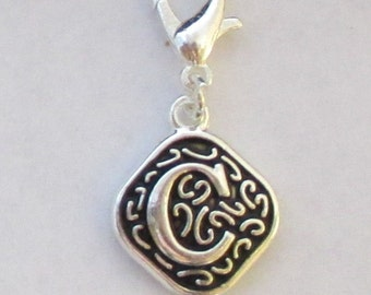 Vintage  Letter C  Dangle  Lobster Claw for Necklace - Bracelets - Key Chains