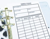 Printed Personal Size Savings Trackers