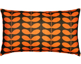 Mid-Century Modern Orange Throw Pillow 12x20