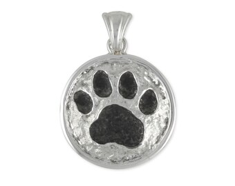 Dog Paw Pendant Jewelry Handmade Sterling Silver  PW25-P