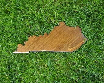 Kentucky Wall Art, Wooden Kentucky Map, Kentucky Map Outline, Kentucky Map Art, Kentucky State Cutout