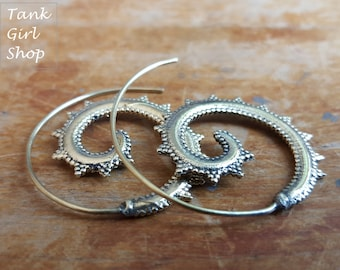 Spiral Hoops plated