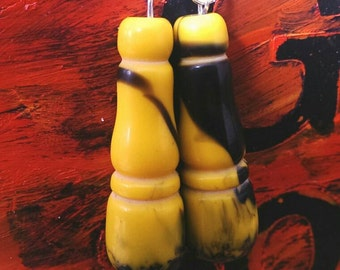 greek yellow and black dangles