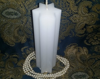 8 inch 6 Point Star Pillar Candle