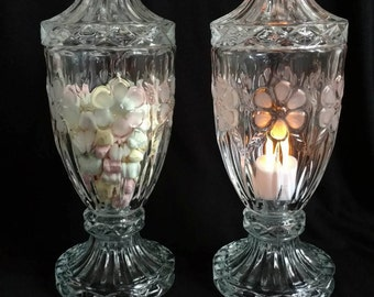 Vintage Upcycled Cut Crystal Containers