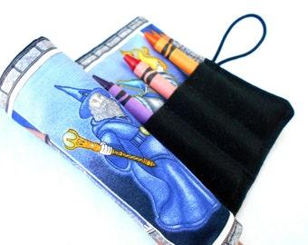 Wizard Crayon Roll - Merlin Wizards Crayon Pink Roll, 8 Crayons