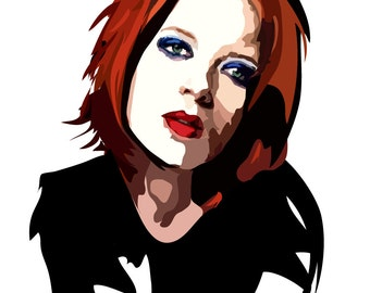 Shirley Manson - Art Print - Music Poster - Garbage Wall Art - Rock