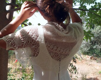 Marvellous wedding shawl