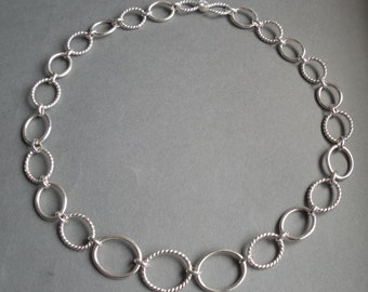 Handmade Oval Link Chain Necklace