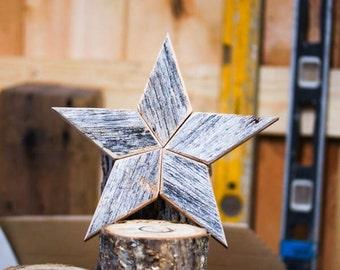 gray star christmas tree topper decoration 12 inch star tree topper made from weathered gray - 12 Inch Christmas Tree