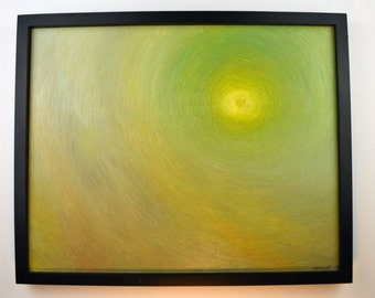 """Original Oil Painting """"The sun over my head"""" by Levent Deparis-20x16"""