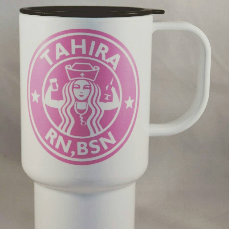 Nurse Coffee Cup Bsn Rn Custom Reusable Travel Mug