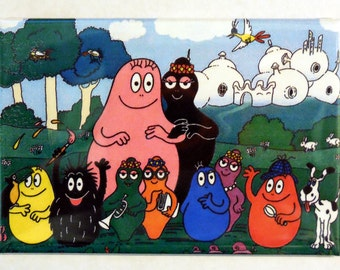 "BARBAPAPA 2"" x 3"" Fridge Magnet Art Vintage The Barbapapa's Tv Show"