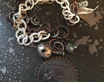 Vintage Medal Bracelet