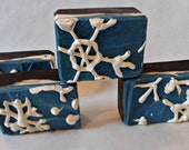 Snowflake Kisses handmade cold process soap