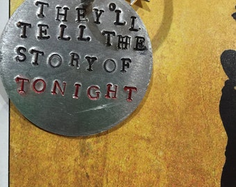 Hamilton Keychain - They'll tell the story of tonight