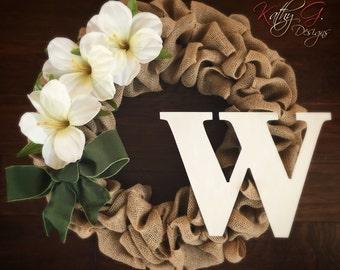 White Hibiscus Wreath