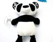 Custom listing for Amy       Panda, softie, soft toy, China themed bedroom, woodland animal, plush stuffed toy, CE certified toy, wildlife,